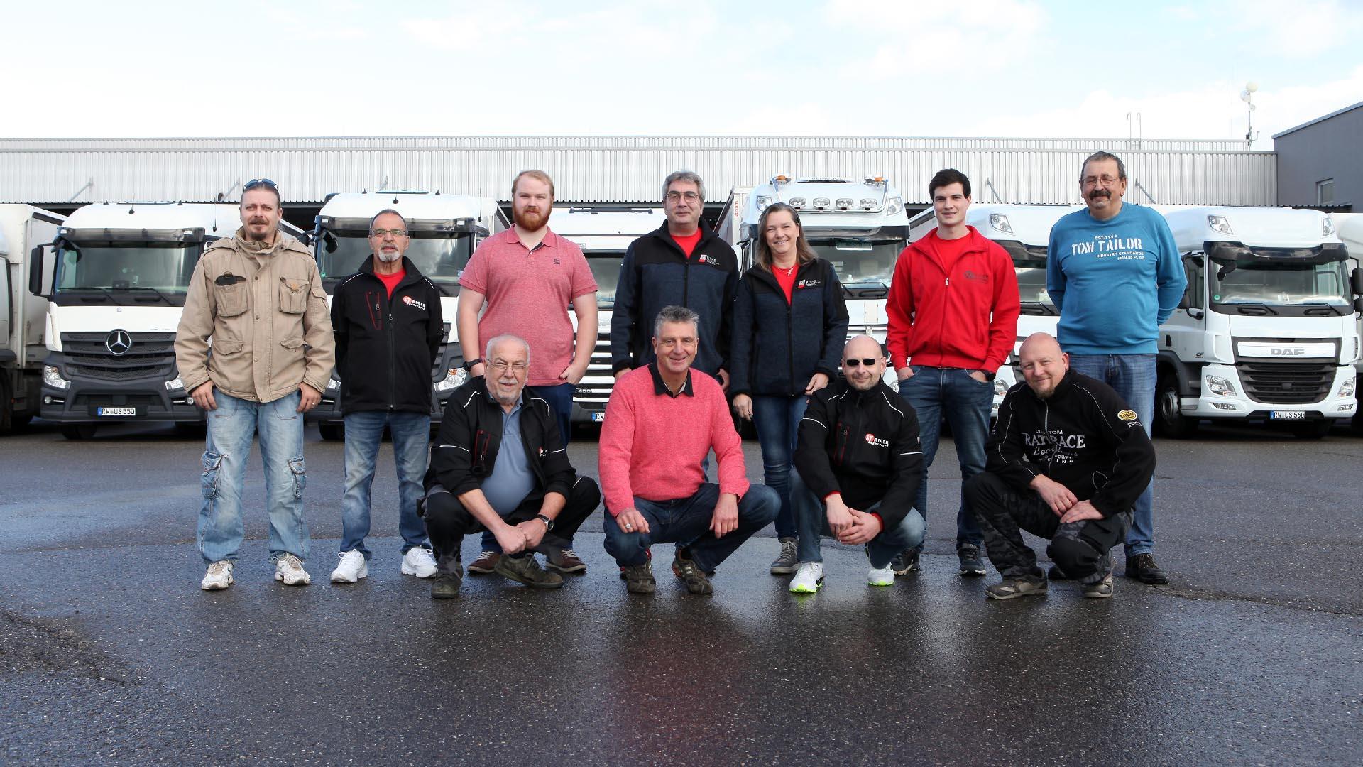 Staiger Transporte Team ausgebildete Fahrer